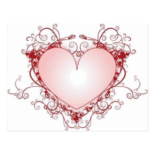 Heart Filigree Postcard
