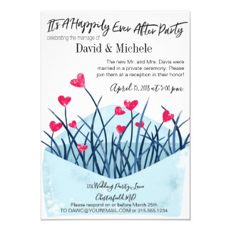Heart Filled After/Post Wedding Invitation