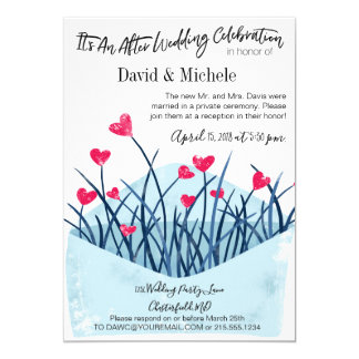Heart Filled Invitation Post/After Wedding Party