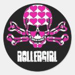 heart-filled skull sticker