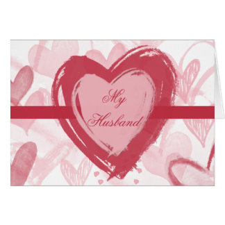 Heart Filled Valentine's Day Card for Husband