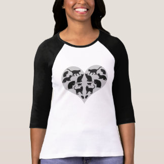 Heart Filled With Black Cat T-Shirt