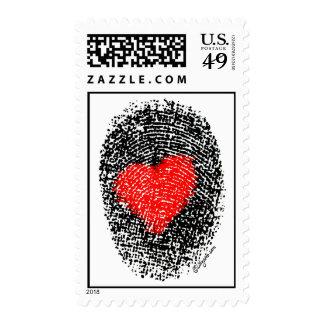 Heart Fingerprint Custom Postage Stamps