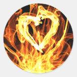 Heart Fire Sticker