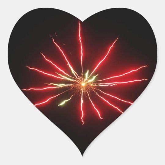 heart firework sticker