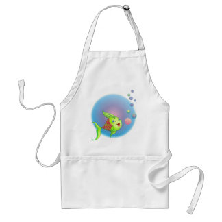 HEART FISH BUBBLE by SHARON SHARPE Adult Apron