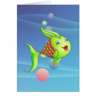 HEART FISH by SHARON SHARPE Card