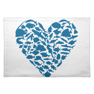 Heart fish placemat
