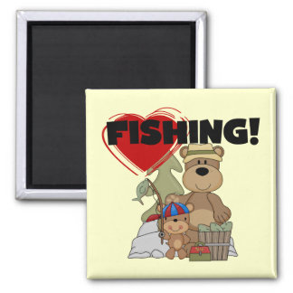 HEART Fishing Tshirts and Gifts Magnet