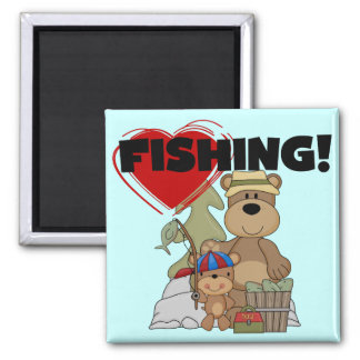 HEART Fishing Tshirts and Gifts Refrigerator Magnets