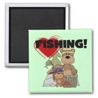 HEART Fishing Tshirts and Gifts Magnets