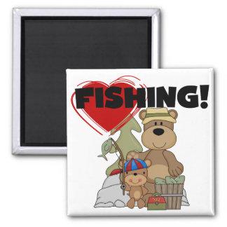 HEART Fishing Tshirts and Gifts Fridge Magnet