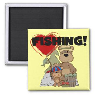 HEART Fishing Tshirts and Gifts Fridge Magnets