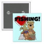 HEART Fishing Tshirts and Gifts Pins