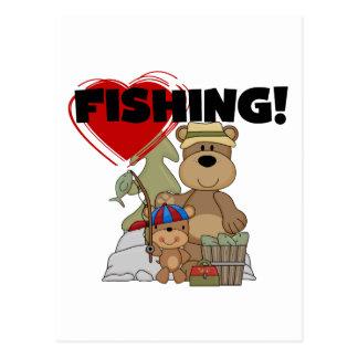 HEART Fishing Tshirts and Gifts Postcard
