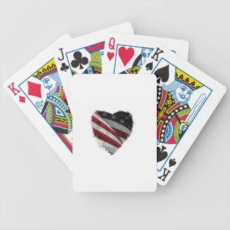 heart flag bicycle playing cards