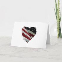 heart flag card
