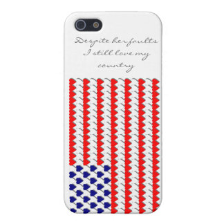 Heart Flag Cover For iPhone SE/5/5s