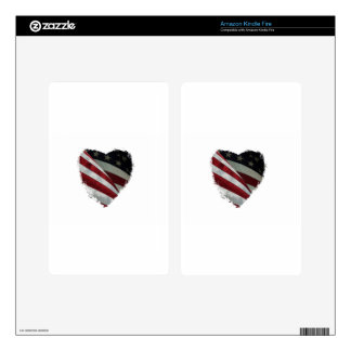 heart flag decal for kindle fire