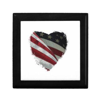 heart flag gift box