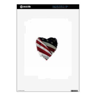 heart flag iPad 2 skins