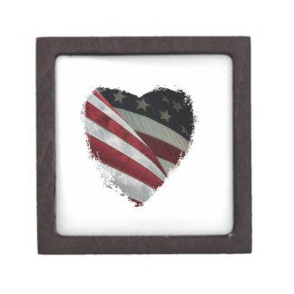 heart flag jewelry box