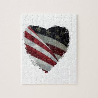heart flag jigsaw puzzle