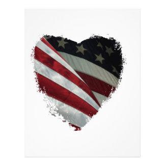 heart flag letterhead