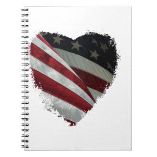 heart flag notebook