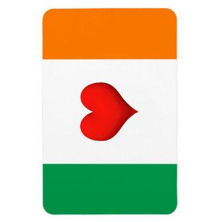 Heart flag of Ireland Magnet
