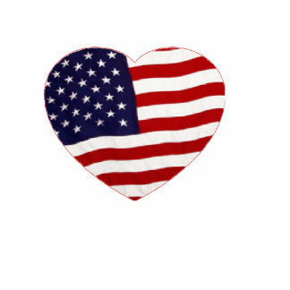 Heart flag photo sculpture
