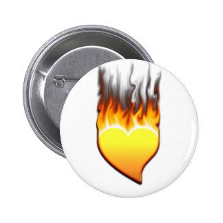 Heart flame design I Button