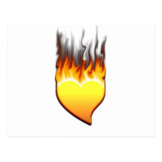 Heart flame design I Postcard