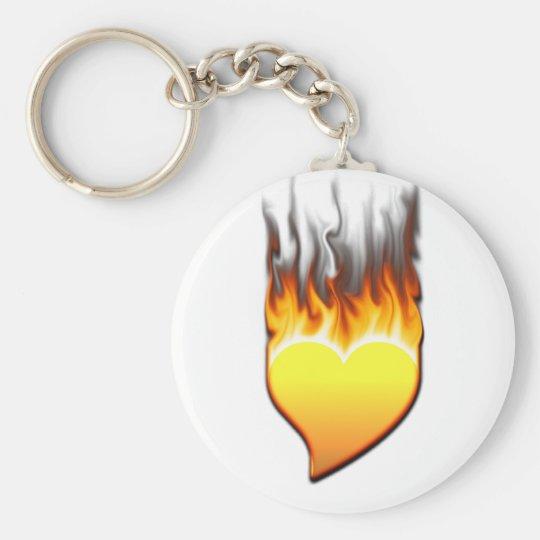 Heart Flame tilted III Keychain