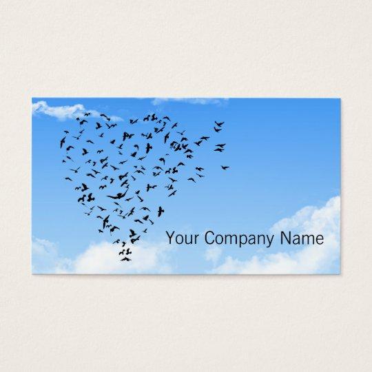 Heart Flock of Birds Business Cards