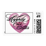 Heart Floral happily Ever postage