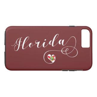Heart Florida Mobile Phone Case, Floridian iPhone 8 Plus/7 Plus Case