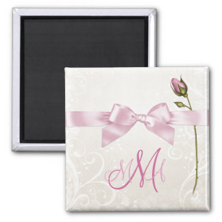Heart Flourish Pink Save the Date Magnet