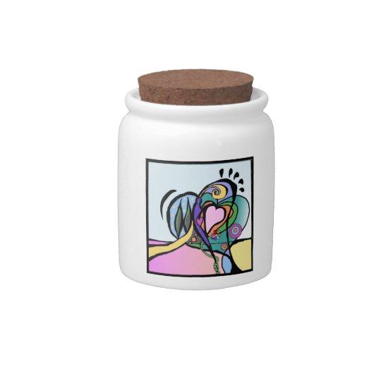 Heart flow Modern art Candy Jar