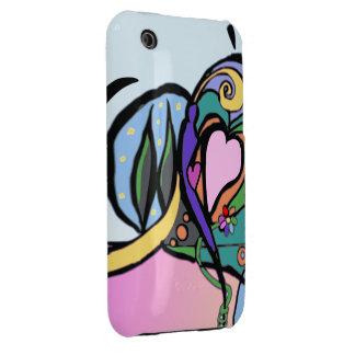 Heart flow Modern art Case-Mate iPhone 3 Case