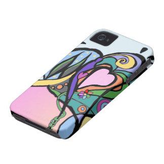 Heart flow Modern art iPhone 4 Covers