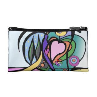 Heart flow Modern art Makeup Bag