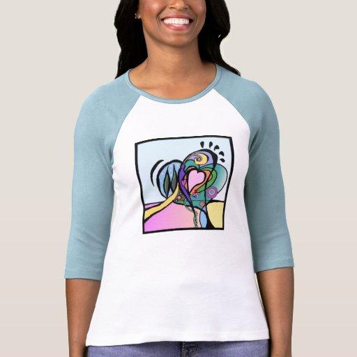 Heart flow Modern art Tee Shirt