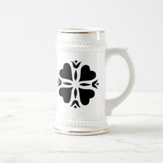 Heart Flower Art 18 Oz Beer Stein