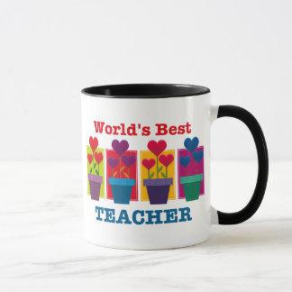 Heart Flower Best Teacher Mug