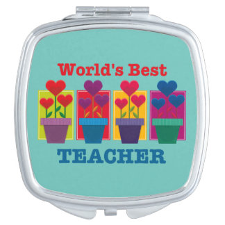 Heart Flower Best Teacher Vanity Mirror