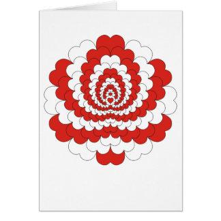 Heart Flower Greeting Card