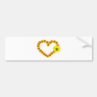 heart, flower heart, bloom, feelings, flowers, hea bumper sticker