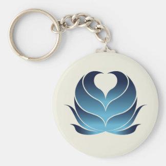 HEART FLOWER KEYCHAIN DARKBLUE