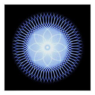 Heart Flower Mandala Poster